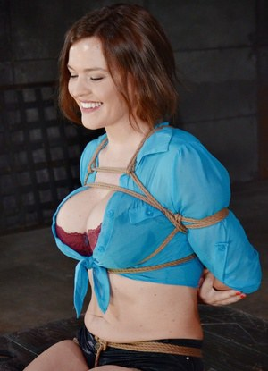 Breast bondage tied tits gangbang lizzie