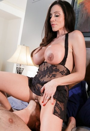 Busty girl riding dildo in front of webcam 3
